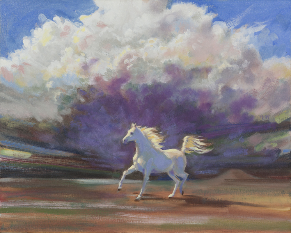White Horse painting by Charlie Mills